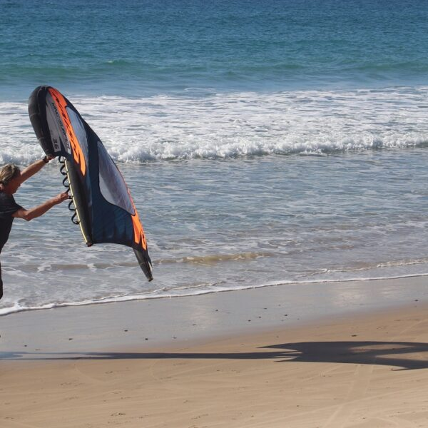 OneWheel Wing Foil Training On The Beach